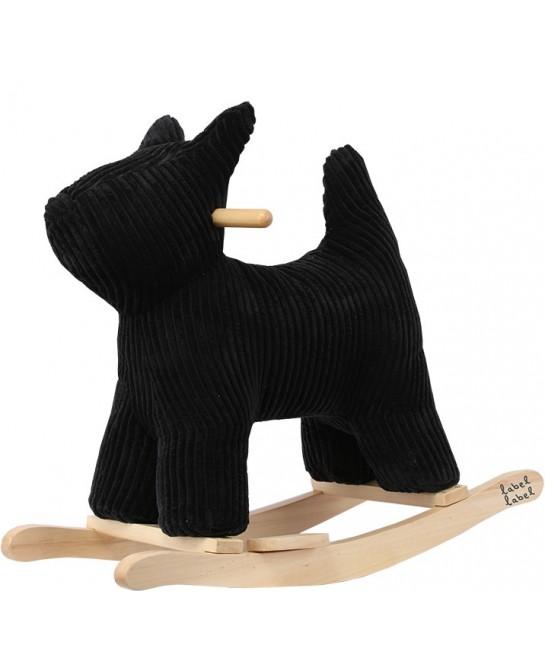 Rocking Dog Zwart