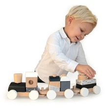 Chook... Chook.. The Black & White train is on its way 🚂🚂  #labellabelwood #LabelLabel #WoodenToys #FSC #FSCWood #toystagram #Ecological #Eco #ecofriendly #train #Kids #Playing #toys #blackandwhite