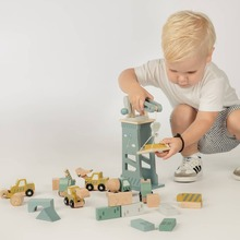 Time for the real work! With this crane and accessories' your child has everything to set up a real construction site.  #labellabelwood #LabelLabel #FSC #FSCWood #Wood #WoodenToys #Eco #Ecological #toystagram #Kids