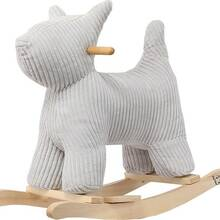 ROCK THAT DOG!  Features a sturdy wooden base for a gentle rocking motion and handle bars to hold onto for a safe ride. Finished with ribbed velvet to rock in style. Light up a smiling face while practicing the sense of balance on the back of you favorite pet.  #LabelLabel #LabelLabelofficiel #dog #rocking #rockingdog