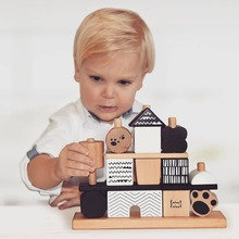 Pssst... quick.. have a look... Maybe there's a cute panda hidden in this wonderful stackinghouse from Label Label... #LabelLabel #WoodenToys #FSC #FSCWood #Wood #Ecological #Eco #Kids #Playing